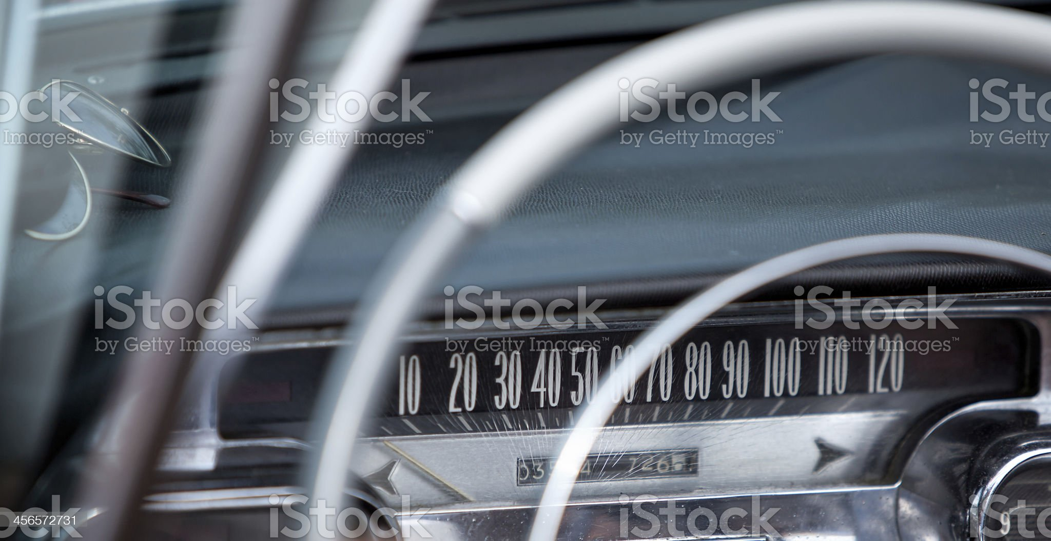 Vintage car control panel royalty-free stock photo