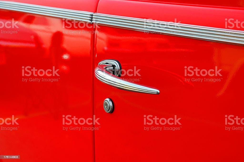 Vintage Car Door Handle royalty-free stock photo