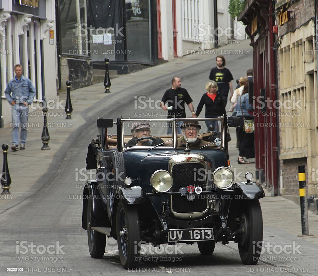 Vintage Car Durham City England royalty-free stock photo