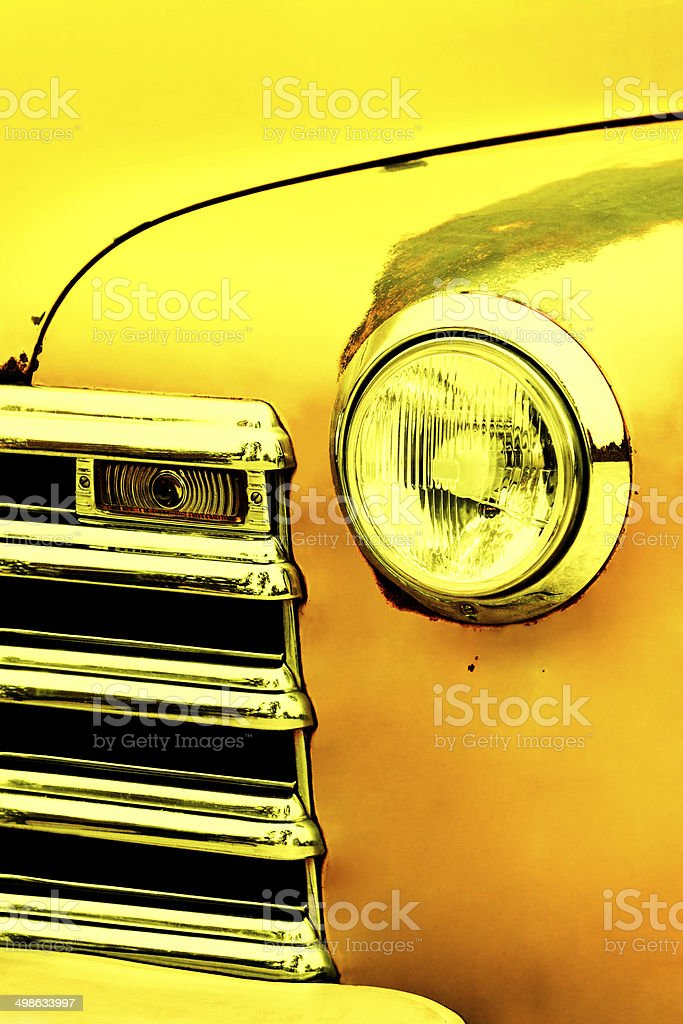 Vintage Car Front Detail royalty-free stock photo