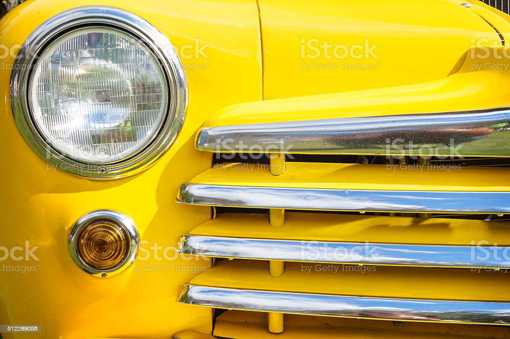 Vintage Car Front Detail stock photo