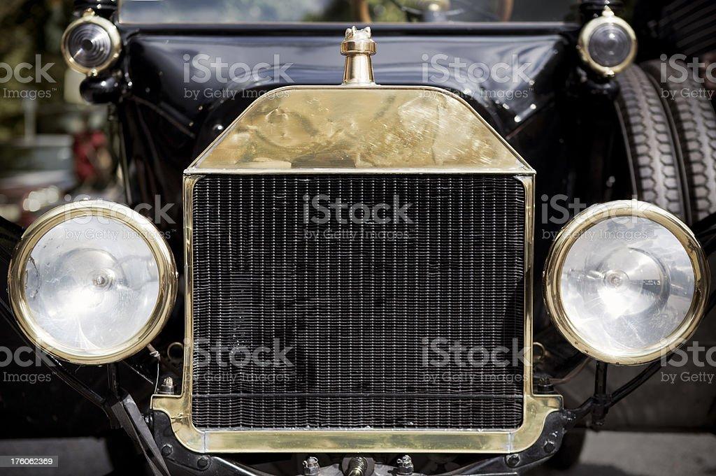 Vintage car front stock photo