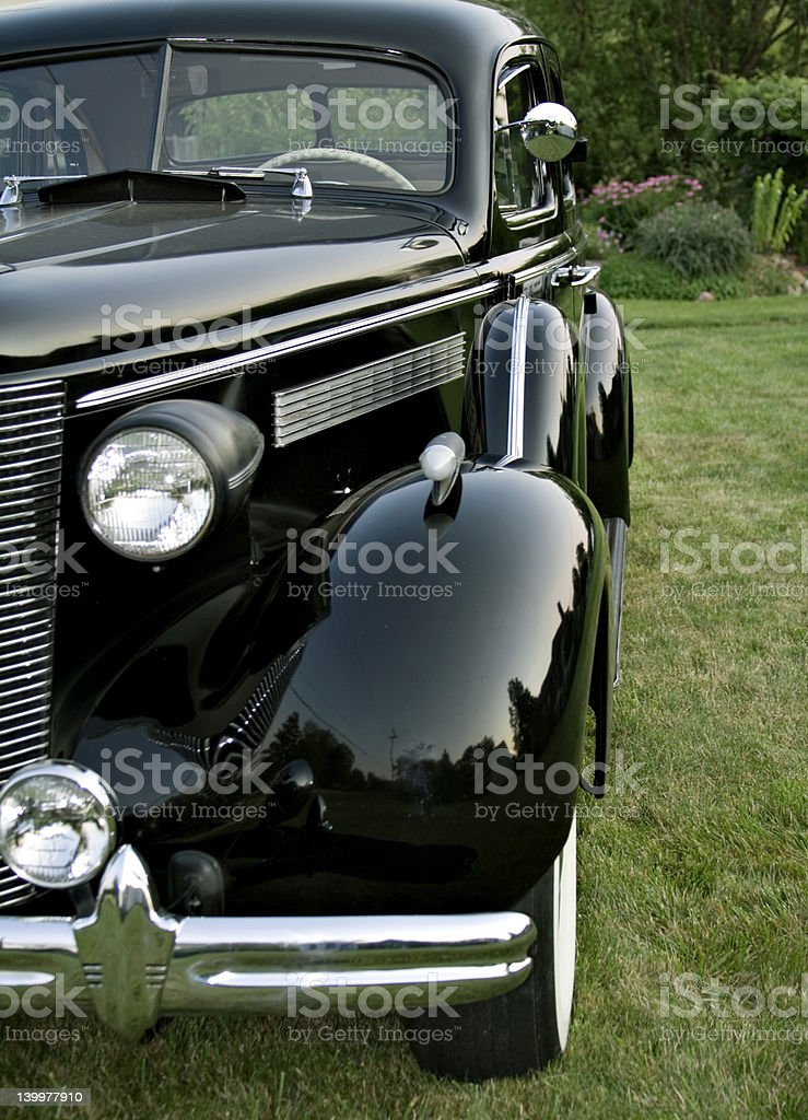 Vintage Car Front Side View royalty-free stock photo