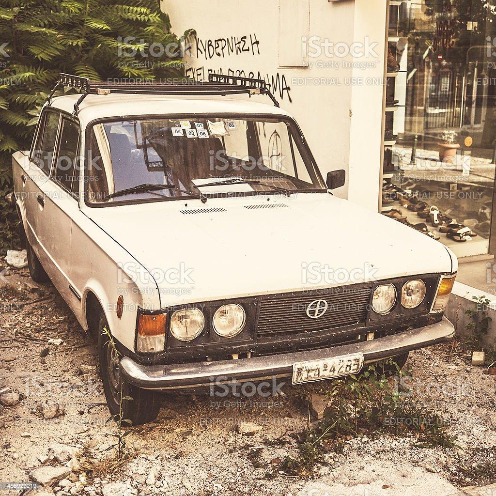 Vintage car - FSO125p. stock photo