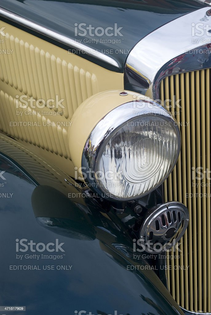 Vintage car headlight royalty-free stock photo