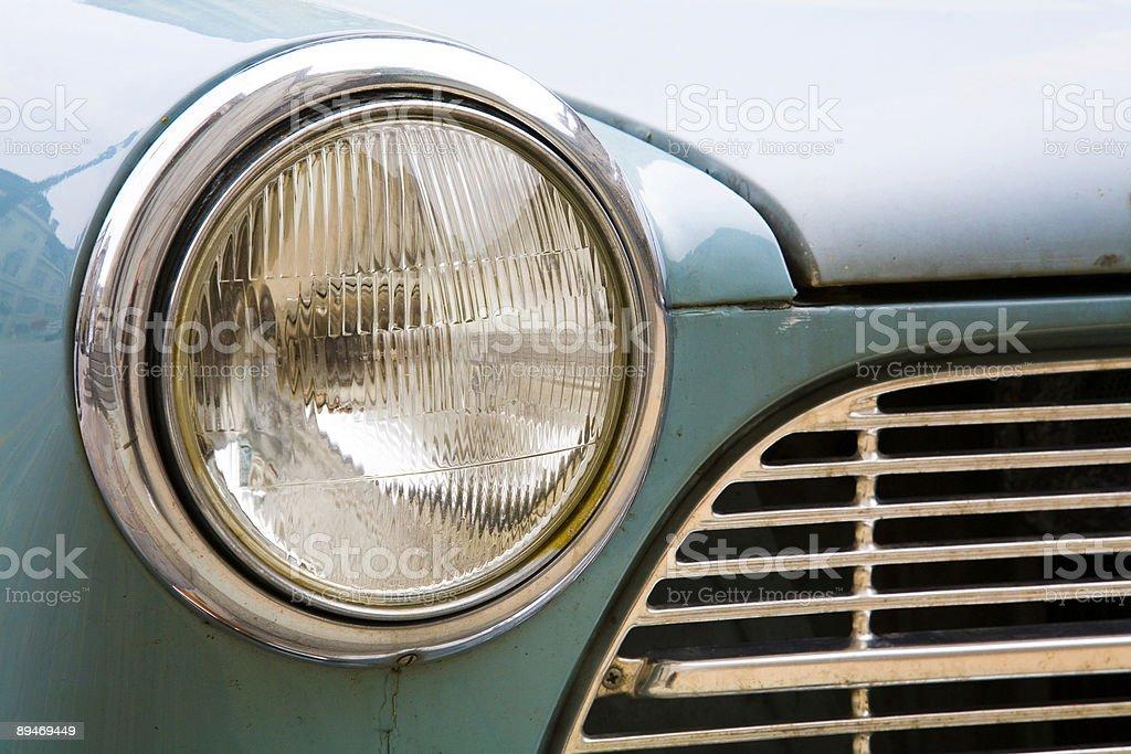 Vintage car headlight royalty-free stock photo