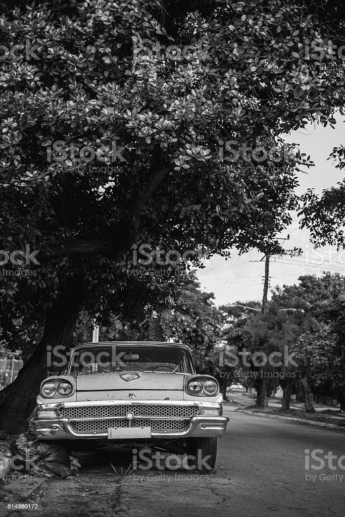 Vintage car in Miramar stock photo