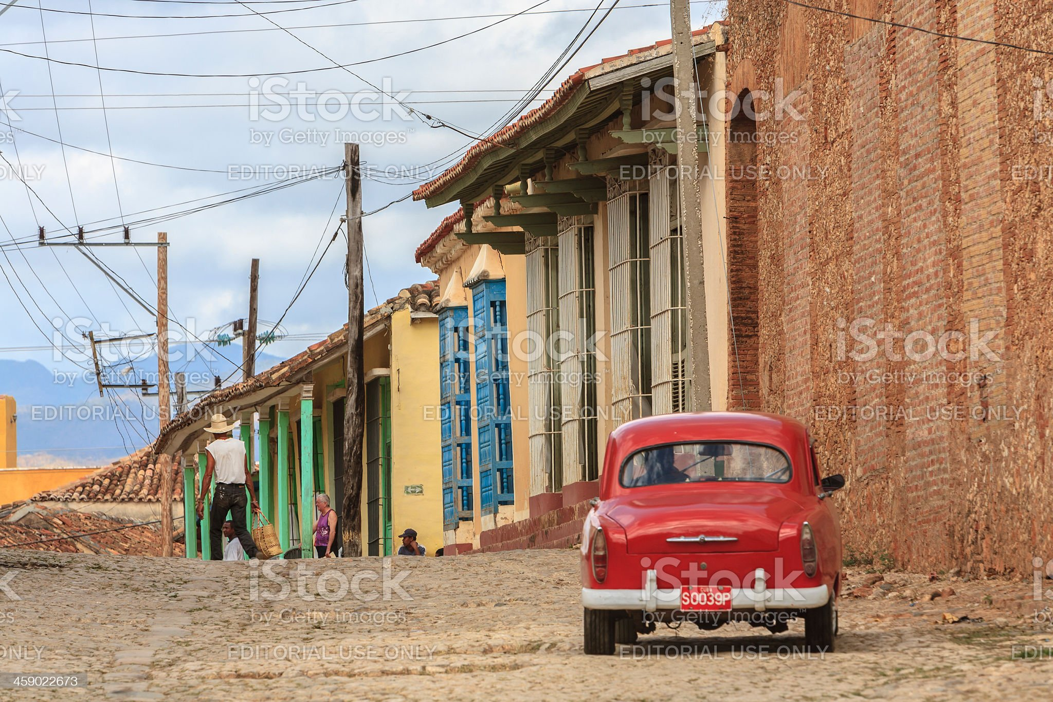 Vintage Car In Trinidad, Cuba royalty-free stock photo