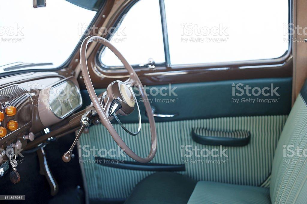 Vintage Car Inside royalty-free stock photo