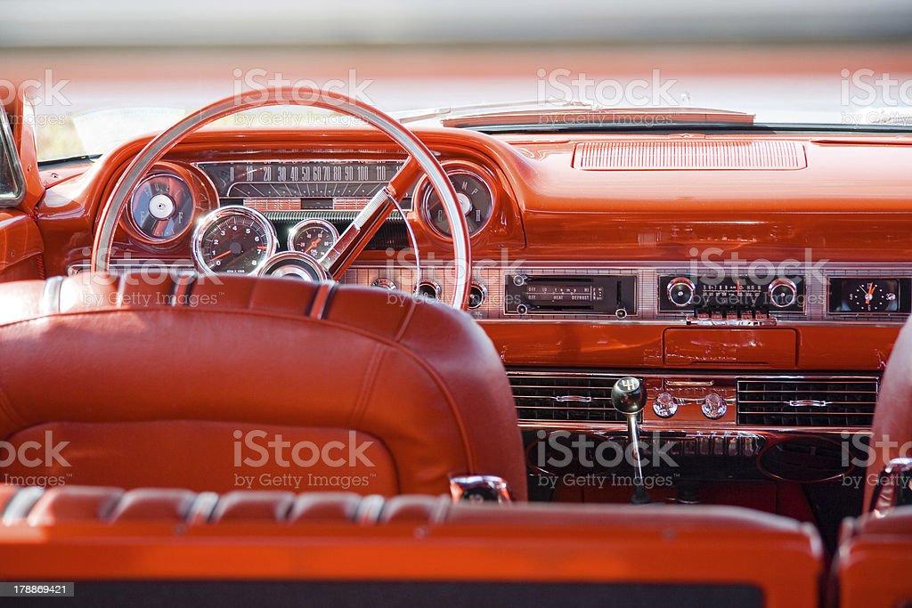 Vintage car interior royalty-free stock photo