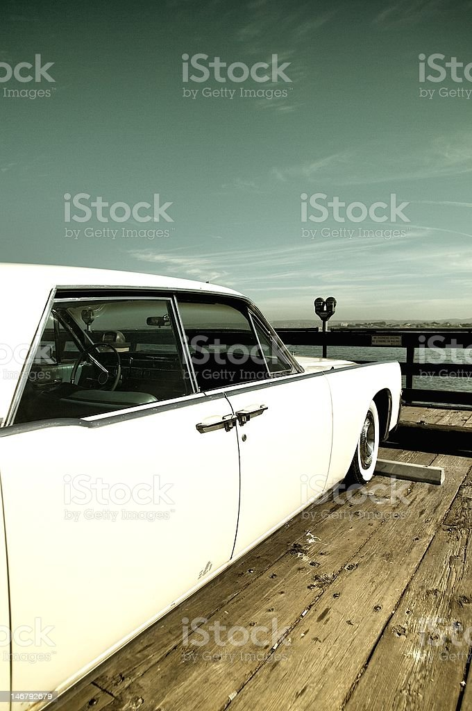 Vintage Car on The Wharf royalty-free stock photo