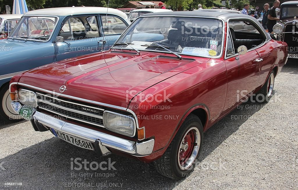 Vintage car Opel Rekord Coupe royalty-free stock photo