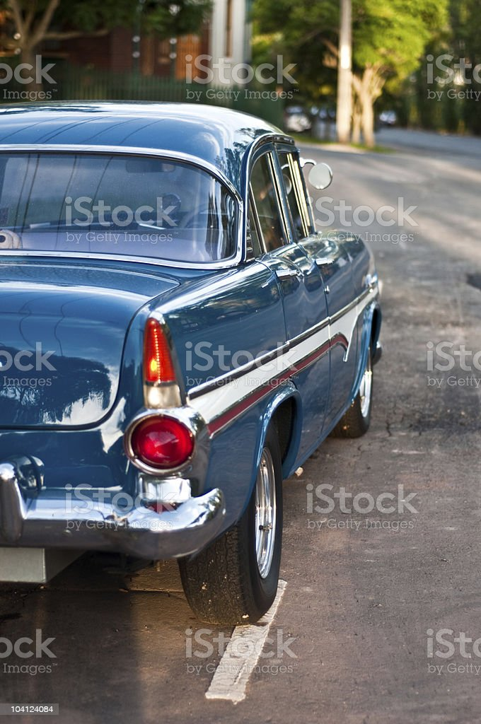 Vintage car parked in Stanmore. royalty-free stock photo
