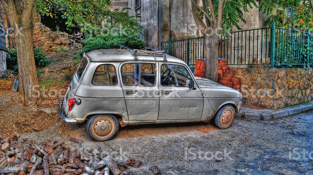 Vintage car (HDR) stock photo
