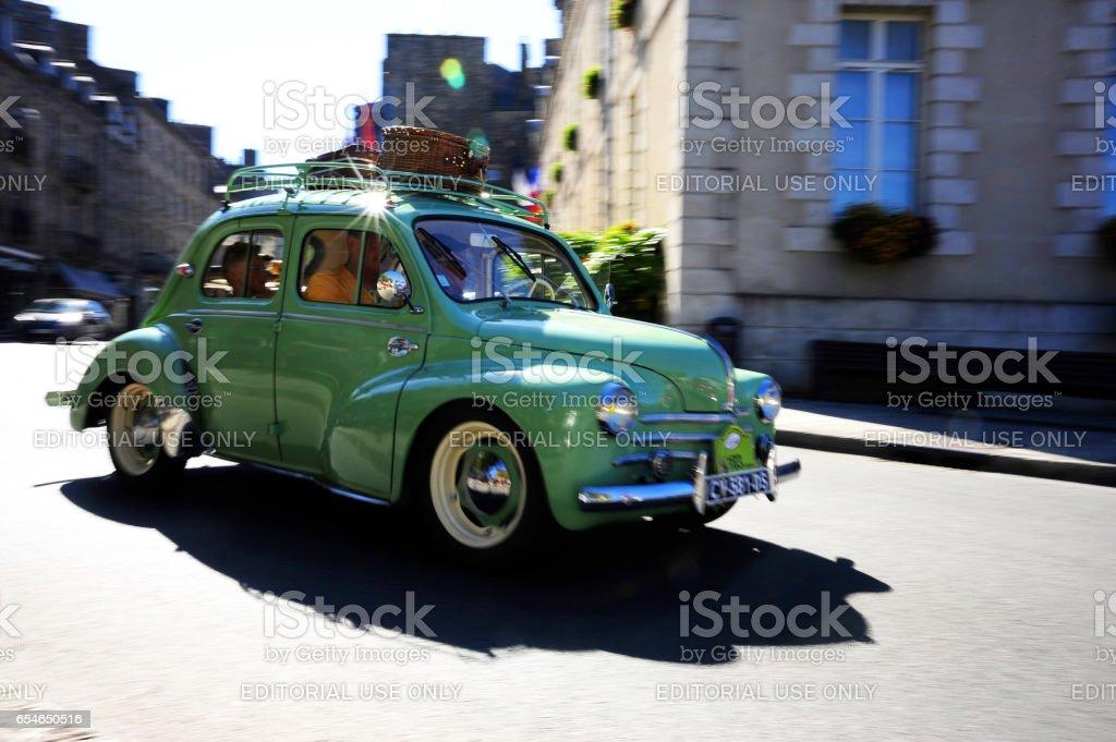 Vintage Car Rally, June 28, 2015. Dinan, Brittany, France. Held...