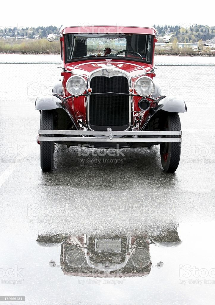 Vintage Car: Red Model T stock photo