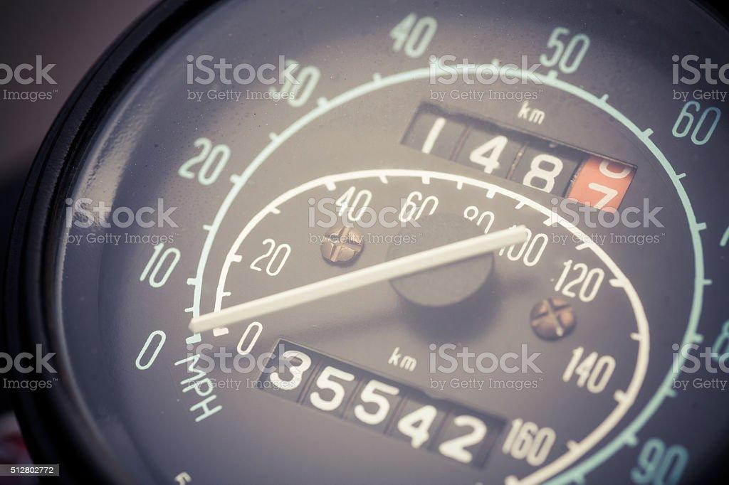 Vintage car speedometer stock photo
