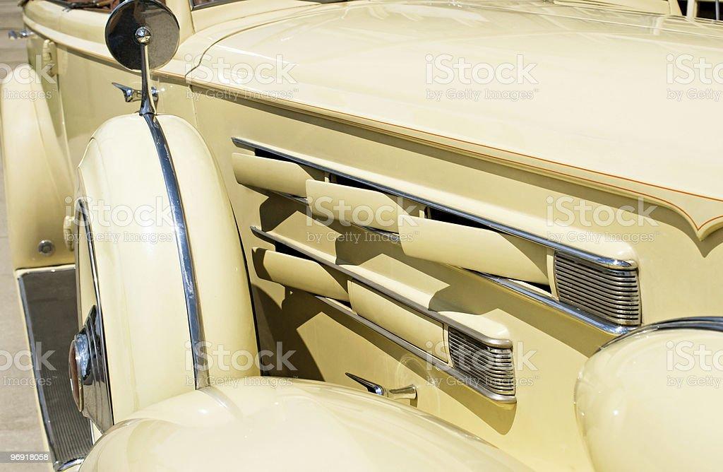 Vintage Car Vent Detail stock photo
