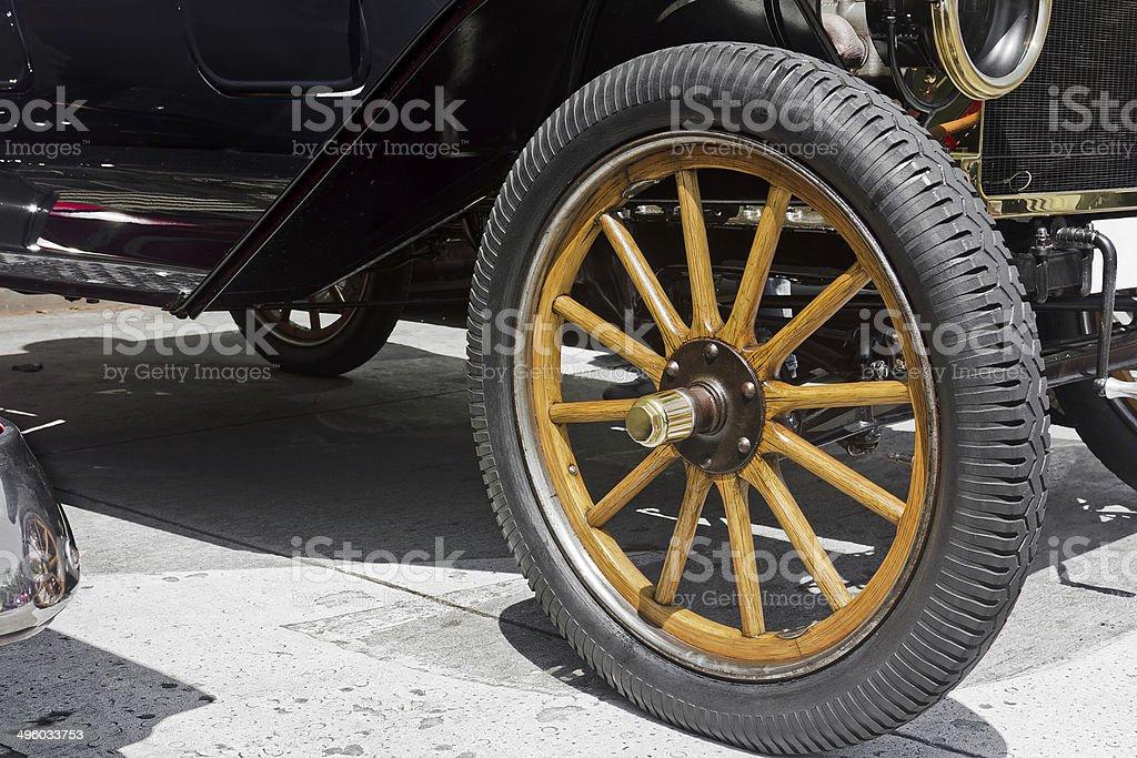 Vintage Car Wheel royalty-free stock photo