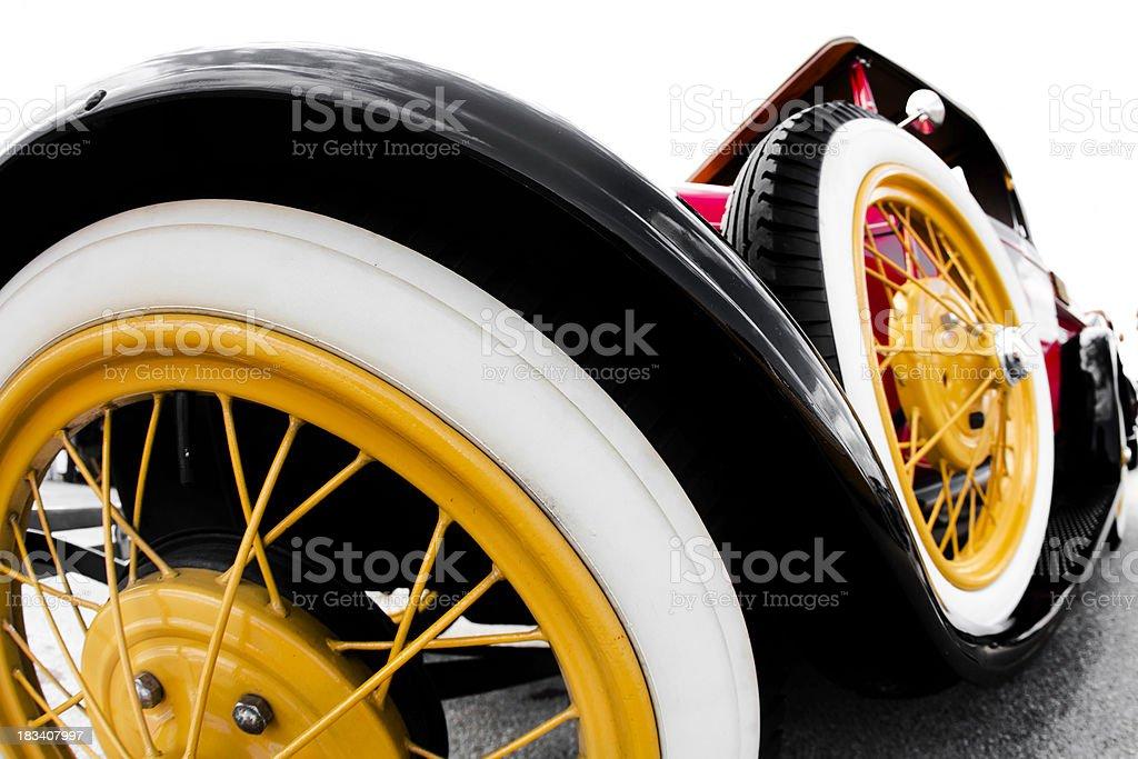 Vintage Car wheels royalty-free stock photo