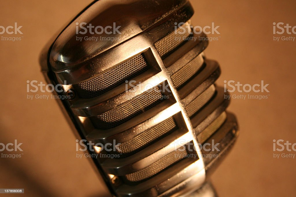 Vintage Carbon Microphone stock photo