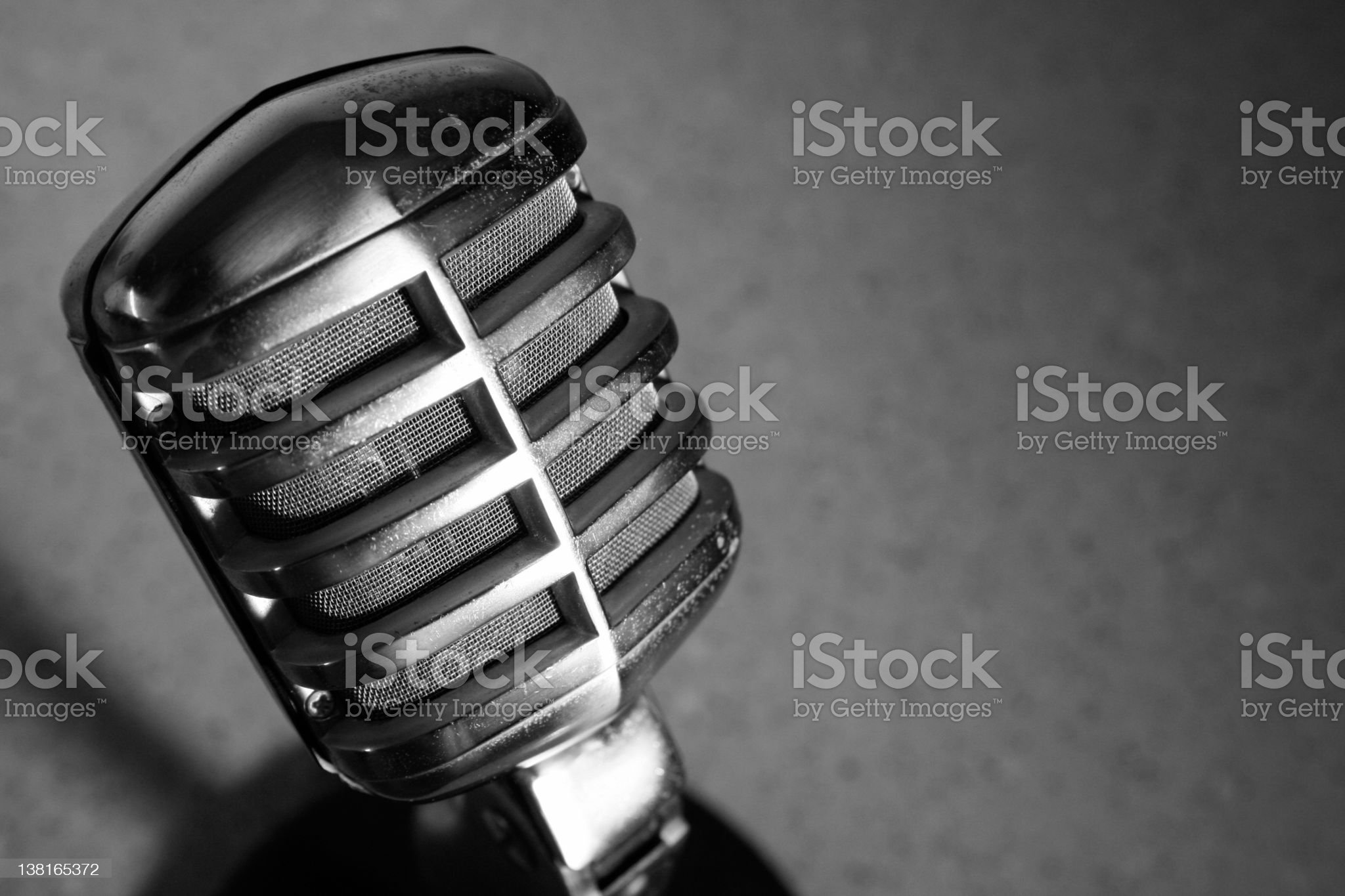 Vintage Carbon Microphone royalty-free stock photo