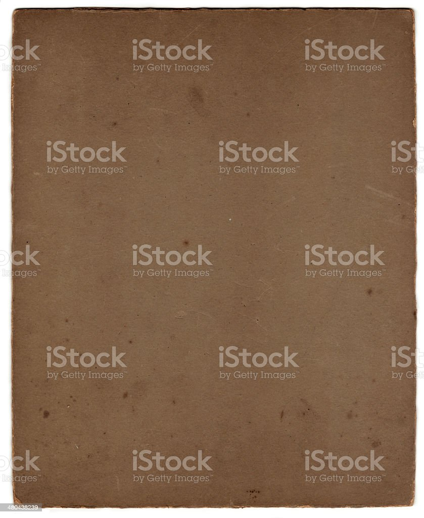 Carta d'epoca Grunge con clipping path) ( foto stock royalty-free