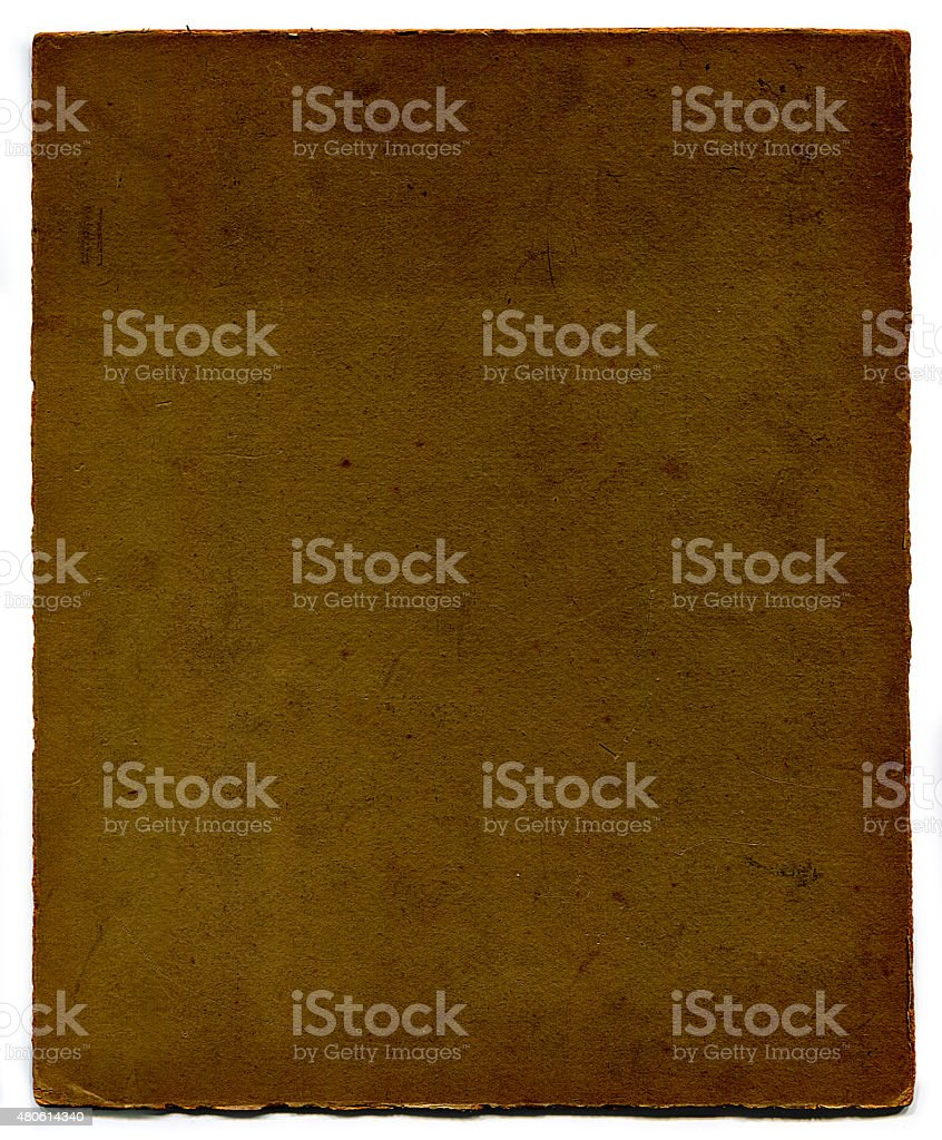 Carta d'epoca Grunge con clipping path) ( foto stock royalty-free