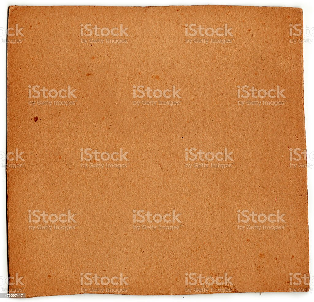 Vintage Card (con clipping path) foto stock royalty-free