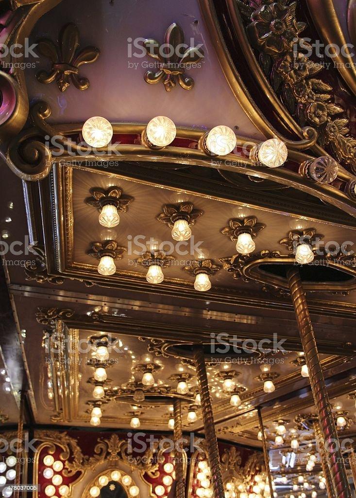 Vintage Carousel Detail royalty-free stock photo
