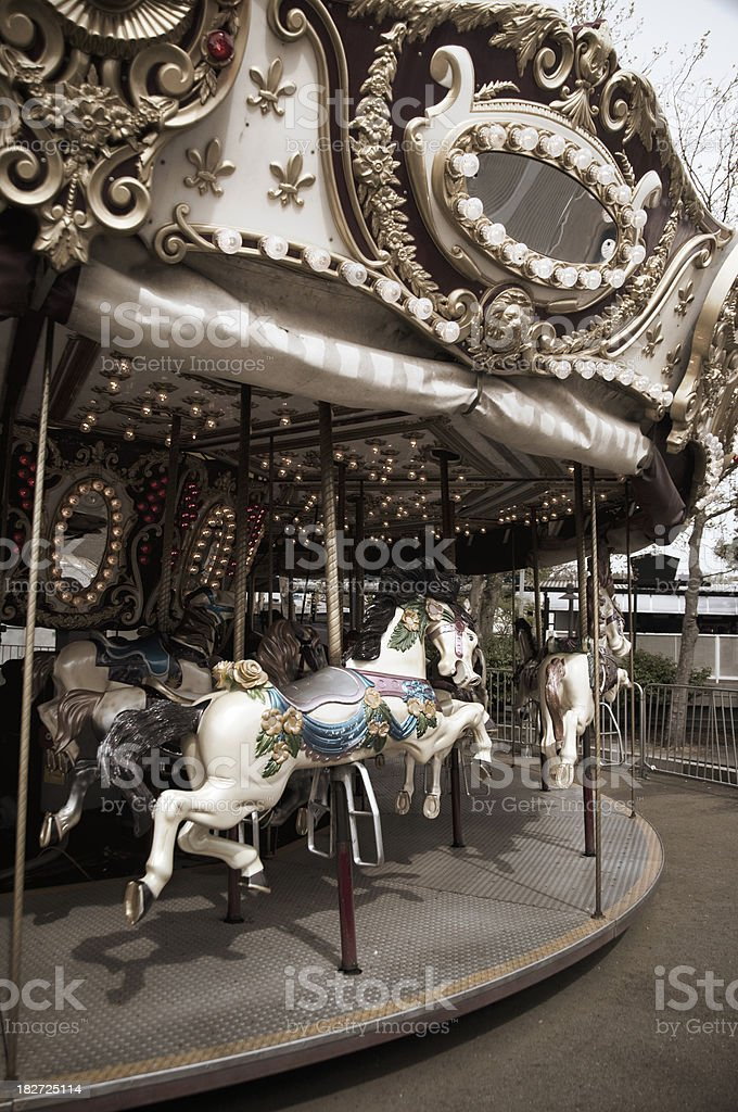 Vintage carousel royalty-free stock photo