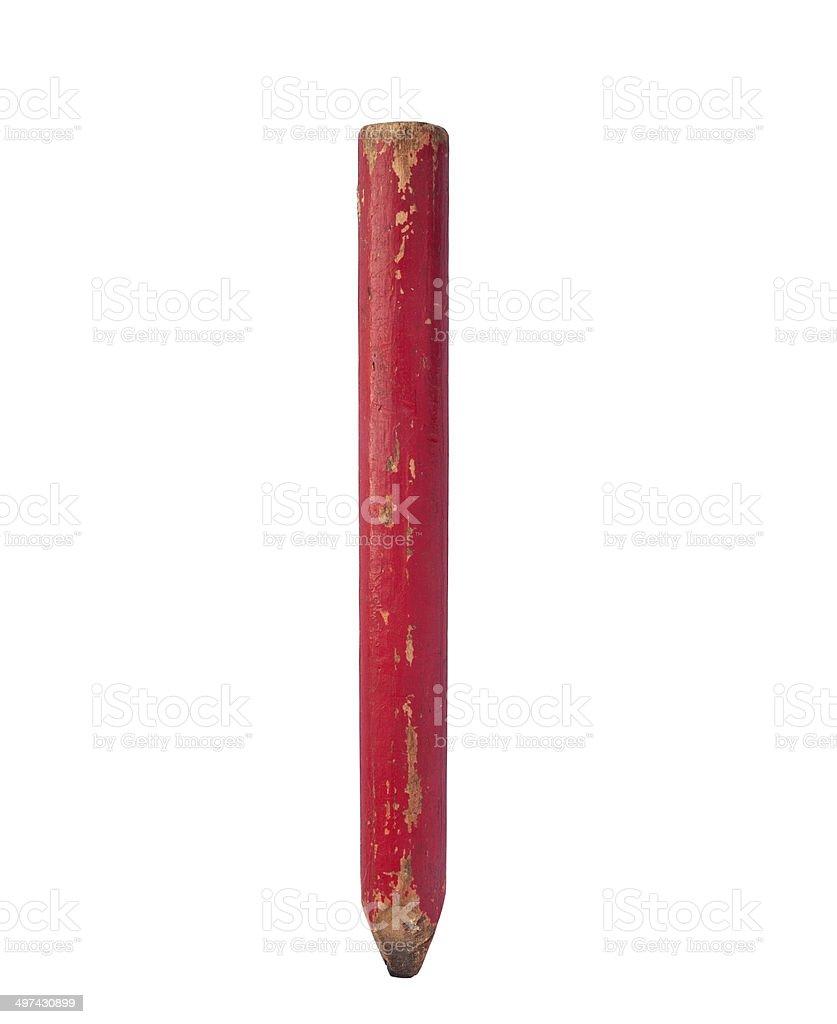 vintage carpenter pencil stock photo