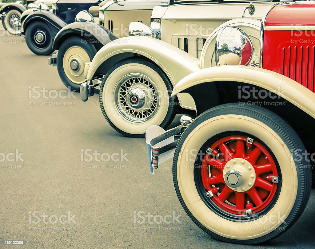 Vintage Cars Wheels stock photo