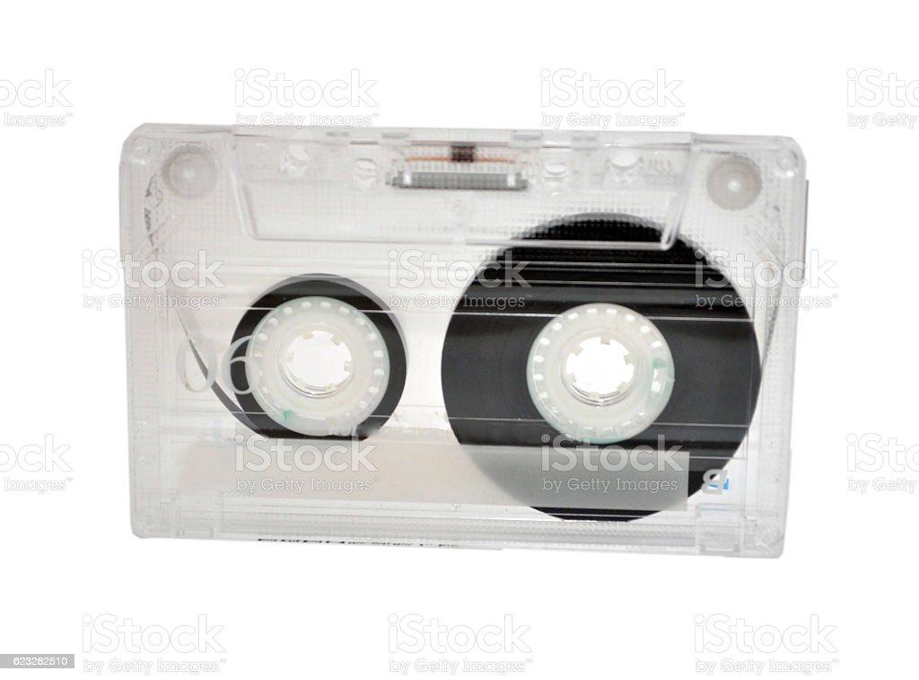 Vintage cassete tape case stock photo