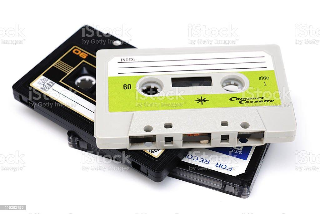Vintage cassette tapes stock photo