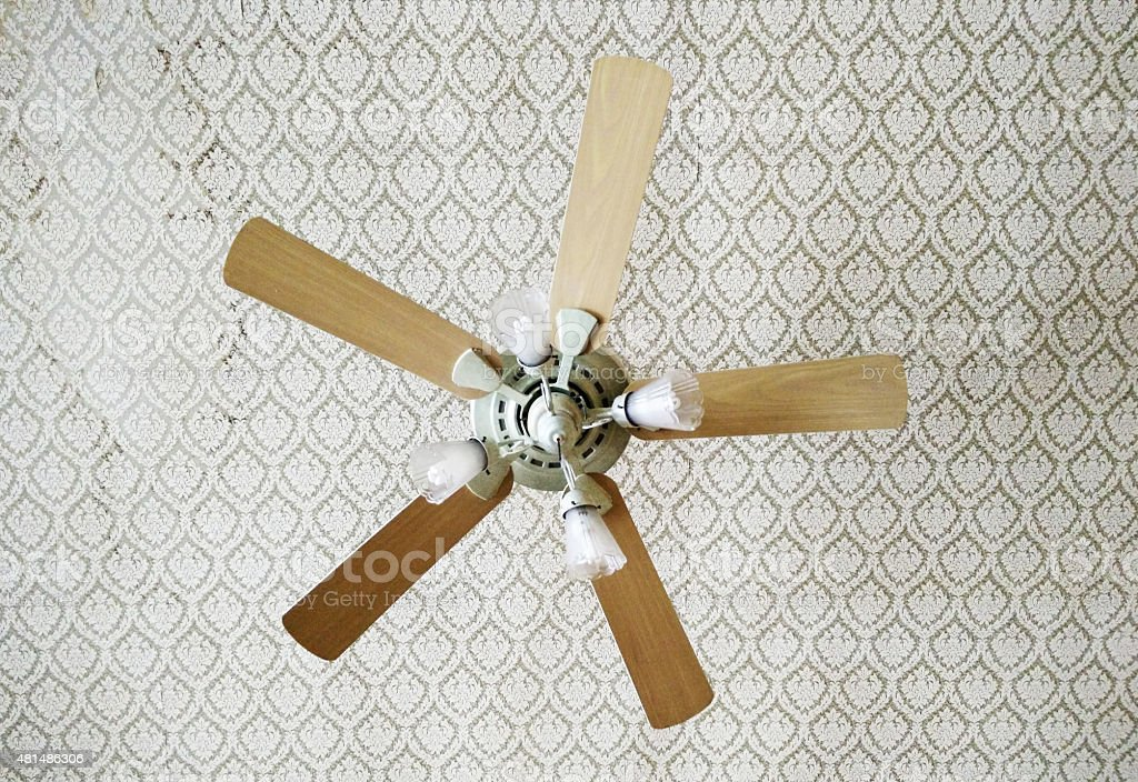 Vintage ceiling fan stock photo