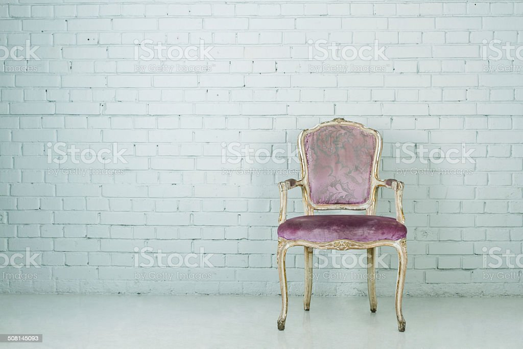 Vintage chair stock photo