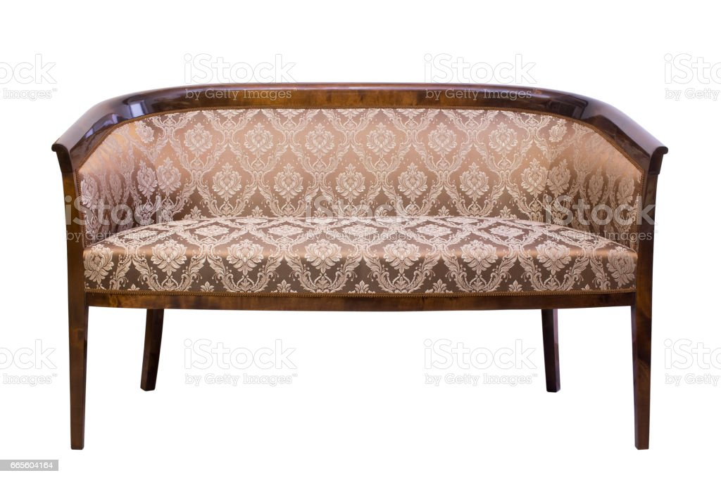Vintage Chair sofa isolated on white background stock photo
