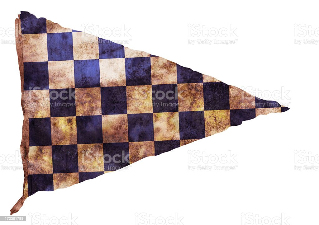 Vintage Checkered Pennant royalty-free stock photo