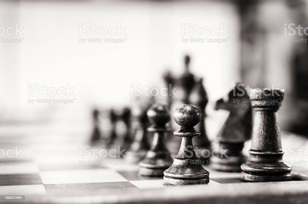 Vintage chess board stock photo