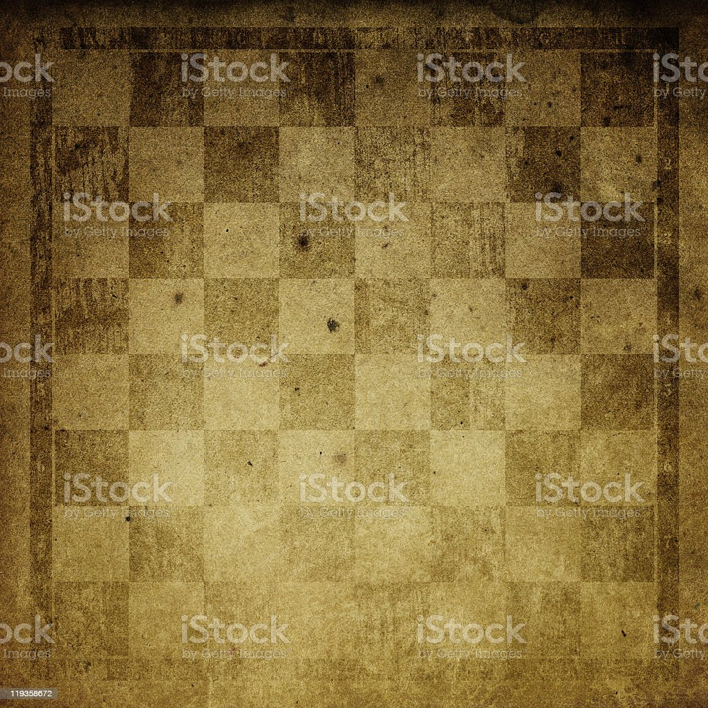 Vintage chess-board background. stock photo