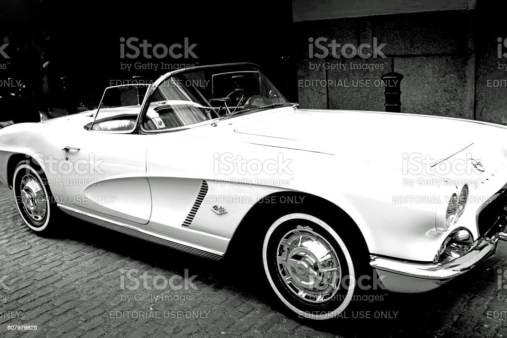 Vintage Chevrolet Corvette stock photo