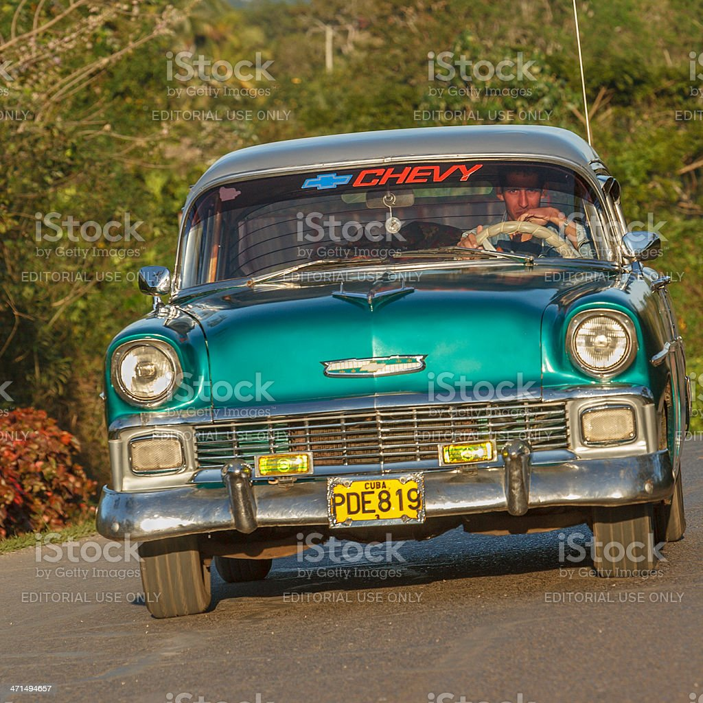 Vintage Chevrolet, Cuba royalty-free stock photo