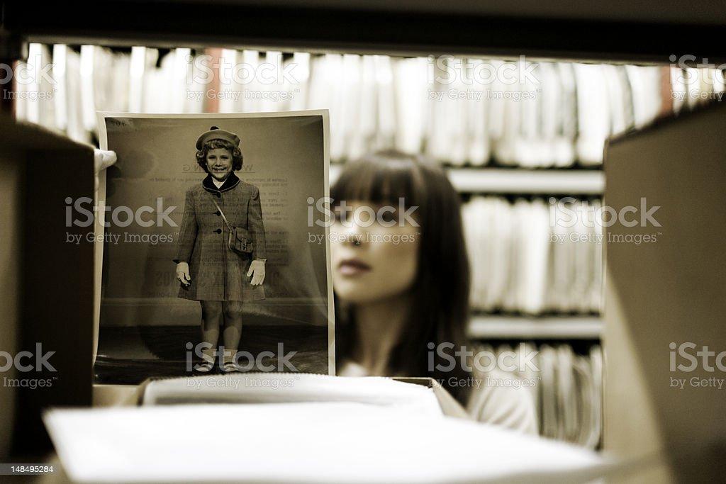 Vintage child portrait stock photo