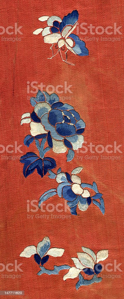 Vintage Chinese Embroidery royalty-free stock photo