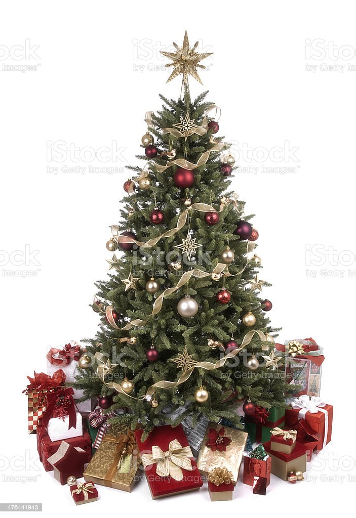 Vintage Chirstmas Tree royalty-free stock photo