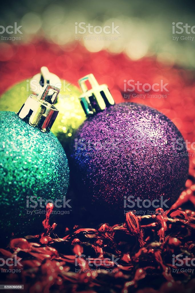 vintage Christmas ball stock photo