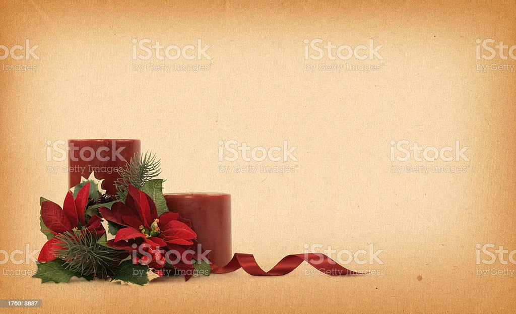 Vintage Christmas Candles royalty-free stock photo