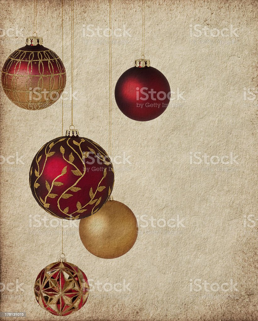 Vintage Christmas Card royalty-free stock photo