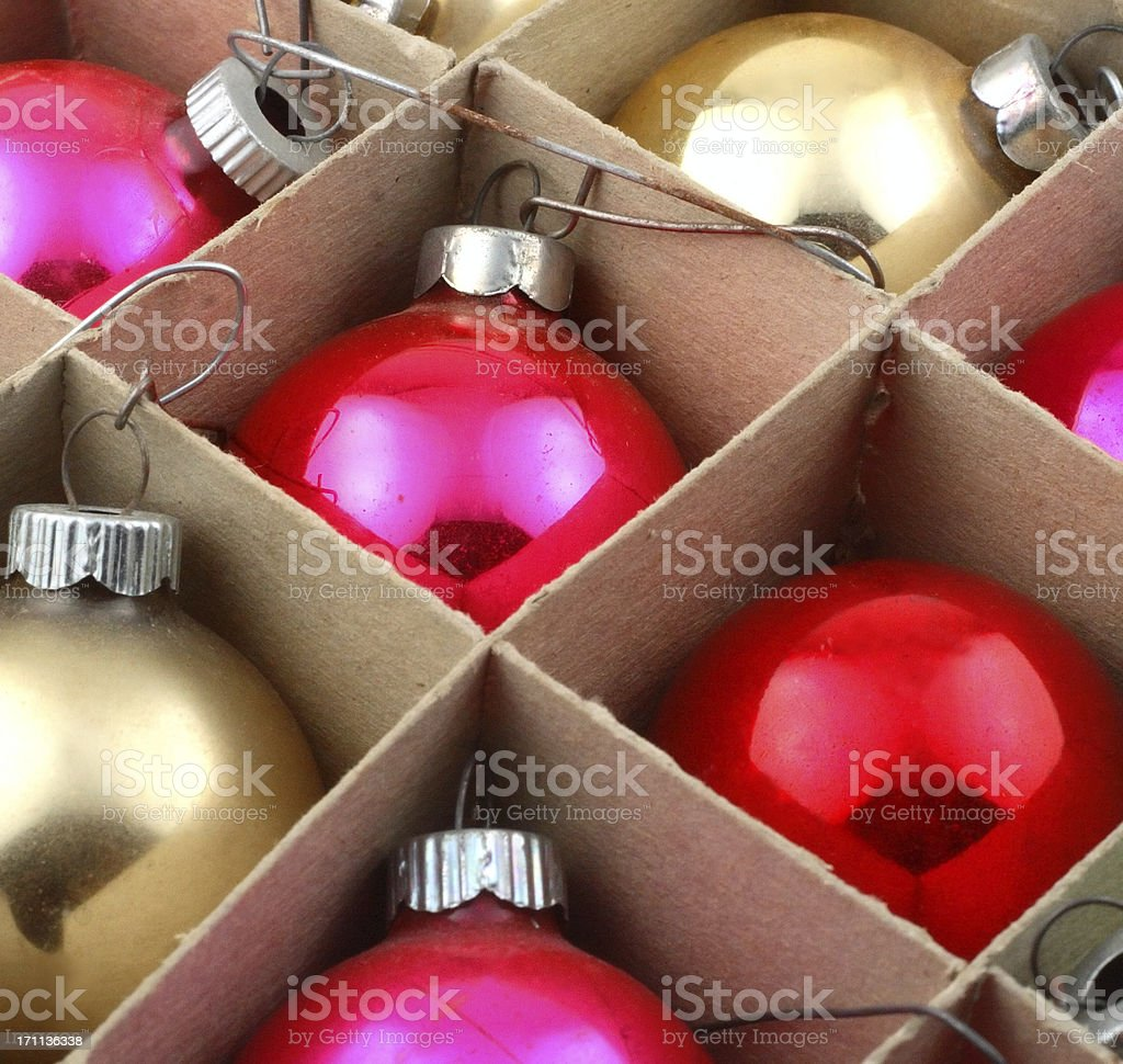 Vintage Christmas Ornaments royalty-free stock photo